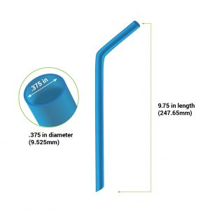 "5.75"" bent silicone straw diagram"