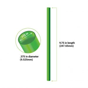 "5.75"" straight silicone straw diagram"